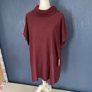 Vince Camuto Maroon Cowl Neck Sweater Tunic Top X